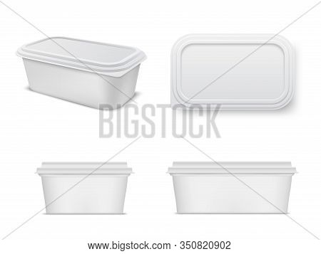 Plastic Food Container Mockup Set, Storage And Packaging