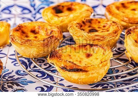 Egg Tart, Traditional Portuguese Dessert, Pastel De Nata.