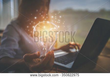 Creative Idea.concept Of Idea And Innovation /