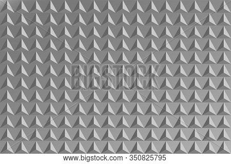 Vector Illustration. Volumetric Pyramids. Monochrome Background. Geometric Figures. Abstract Backgro