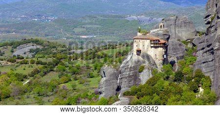Viw Of St. Nicholas Anapafsas Monastery, Meteora, Greece.