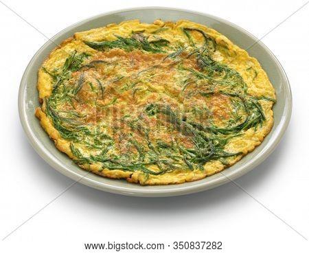 Kai Jeow Cha Om, , Thai omelette with acacia leaves