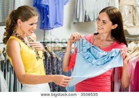 En el Departamento de ropa