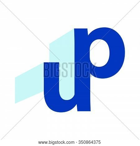Up Logo Typography U & P Letters Icon Vector Template Illustrations