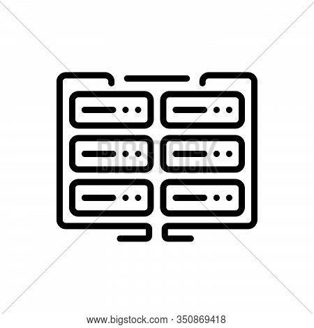 Black Line Icon For Data Data-encryption Encryption Gadget Storage Database Interconnected Applicati