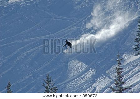 Skiing Down In The Powder