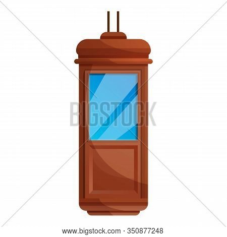 Hotel Elevator Cabine Icon. Cartoon Of Hotel Elevator Cabine Vector Icon For Web Design Isolated On