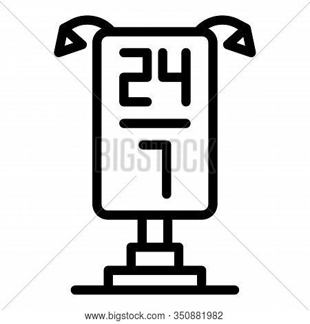 Service Center Lightbox Icon. Outline Service Center Lightbox Vector Icon For Web Design Isolated On