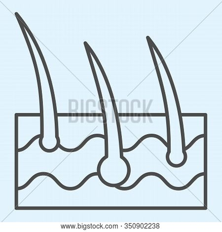 Epidermis Thin Line Icon. Body Hair Follicle And Dermatology. Health Care Vector Design Concept, Out