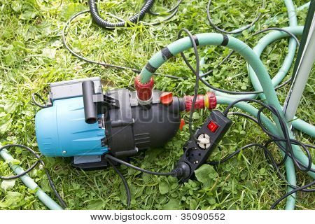 Garden Hose And Water Pump Connection
