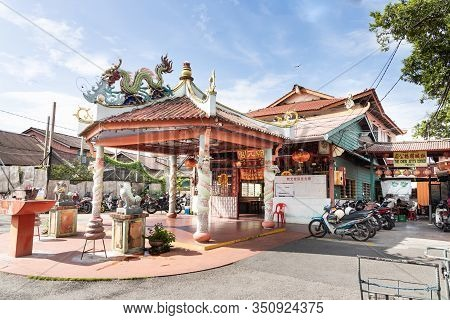 Georgetown, Penang, February 12, 2020: Chew Jetty Is Part Of Penang Heritage Trail And Is Popular To