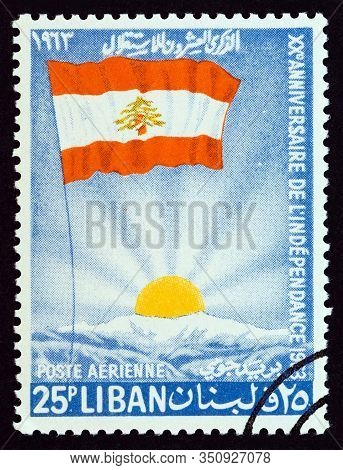 Lebanon - Circa 1963: A Stamp Printed In Lebanon From The