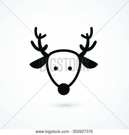 Dear Head Icon Vector Illustration Of Isolated