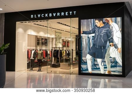 Blackbarrett Shop At Emquatier, Bangkok, Thailand, Sept 20, 2019: Fashionable Casual Wear Flagship S