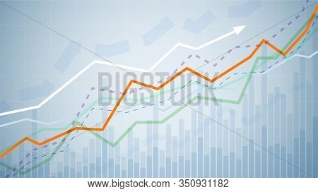 Financial Graph Chart. Business Data Analytics. Monitoring Finance Profit And Statistic. Graph Chart
