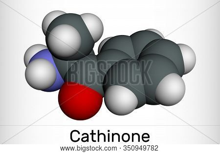 Cathinone, Benzoylethanamine, Beta-keto-amphetamine, C9h11no Molecule. It Is Monoamine Alkaloid Foun