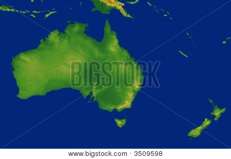 Australia Map With Terrain