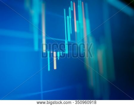 Financial Data On A Monitor As Finance Data Concept. Analytics Report Status Information Analysis Ch