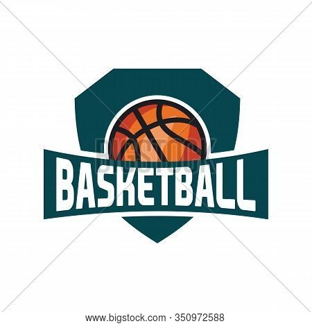Basketball Logo, American Logo Sport, Basketball Logo Template Vector, Isolated On White Background,