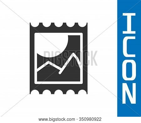 Grey Lsd Acid Mark Icon Isolated On White Background. Acid Narcotic. Postmark. Postage Stamp. Health
