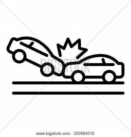 Transport Accident Icon. Outline Transport Accident Vector Icon For Web Design Isolated On White Bac