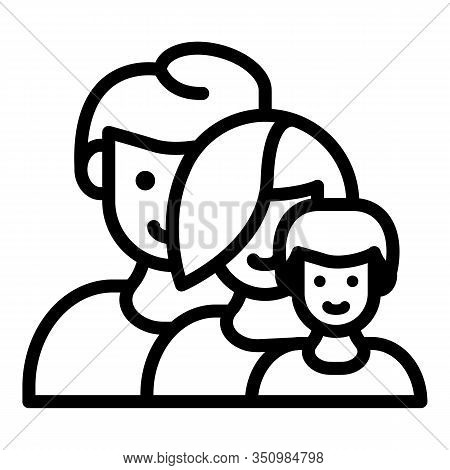 Foster Family Icon. Outline Foster Family Vector Icon For Web Design Isolated On White Background