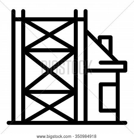 Building Reconstruction Icon. Outline Building Reconstruction Vector Icon For Web Design Isolated On