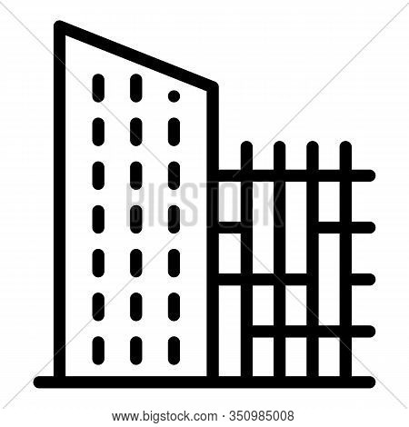 City Reconstruction Building Icon. Outline City Reconstruction Building Vector Icon For Web Design I