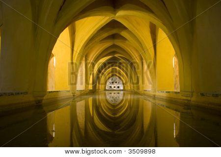 Baths At Seville's Alcazar Palace