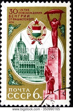 02 08 2020 Divnoe Stavropol Territory Russia Postage Stamp Ussr 1975 The 30th Anniversary Of Liberat