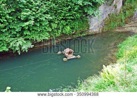 A Duck Lodge On A Small Artificial Lake Of Egglibach Stream, Urnäsch (urnaesch Or Urnasch) - Canton