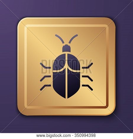 Purple System Bug Concept Icon Isolated On Purple Background. Code Bug Concept. Bug In The System. B