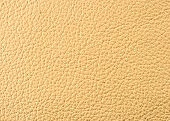 Natural qualitative beige leather texture. Close up. poster