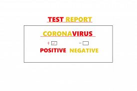 Abstract Background Of Coronavirus, Coronavirus Positive Medical Blood Test Report Result, China Chi