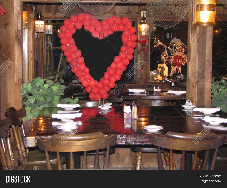 Restaurant valentine decor image photo bigstock