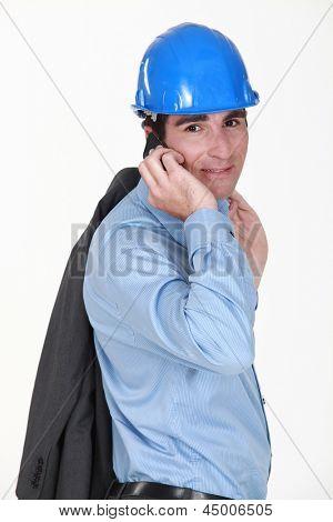 Man making call