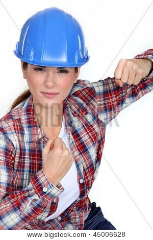 Tradeswoman ready to fight