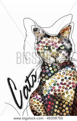 Art Cat Illustration