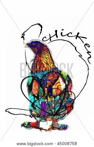 Funky Chicken Illustration