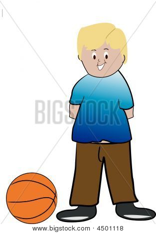 Boy Blond With Basketball.eps