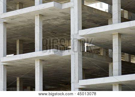 Building Made With Precast Concrete Slabs