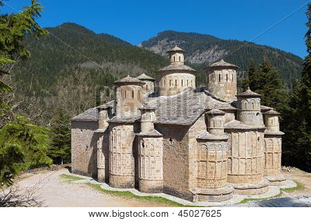 Old stone made church in Greece