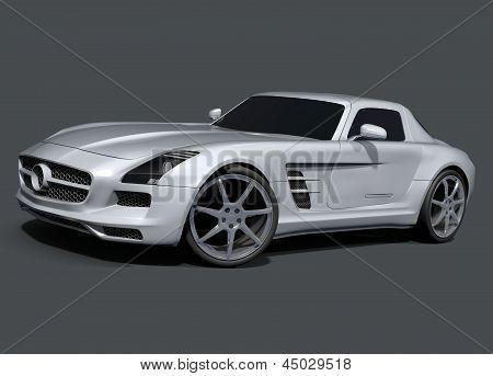 Retrofuturistic racing car