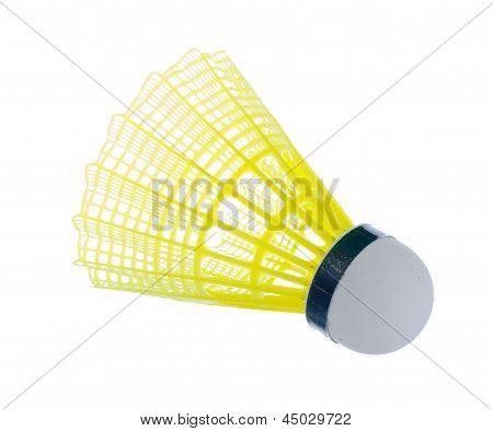 Badminton Shuttle Isolated On White Bacjground.