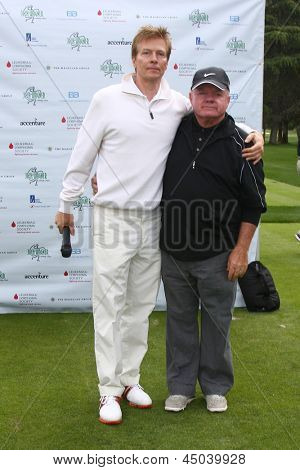 LOS ANGELES - APR 15:  Jack Wagner, Jack McGee at the Jack Wagner Celebrity Golf Tournament benefitting the Leukemia & Lymphoma Society at the Lakeside Golf Club on April 15, 2013 in Toluca Lake, CA