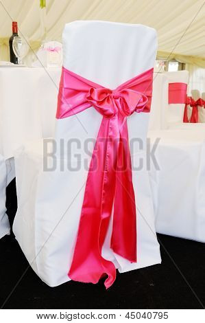 Chair Cover With Pink Bow