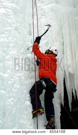 Ice Climber Swinging Pick