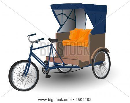 Rickshaw Pulled By Bicycle