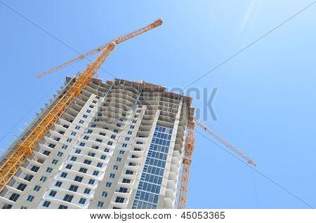 Luxury Condo Tower Under Construction