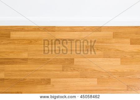 Brown Laminate Texture  And White Wall
